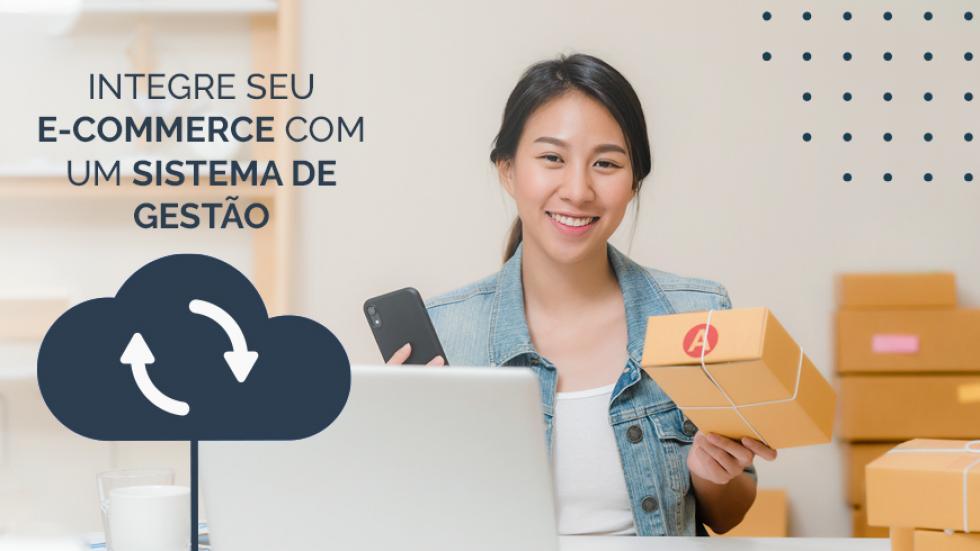 plataforma de e-commerce que integra com sistemas de gestão